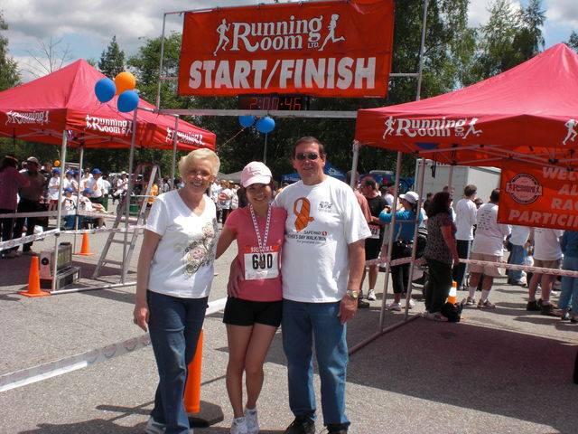 カナダの父の日にバンクーバーで走った10キロマラソンの写真