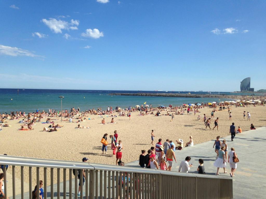 スペインバルセロナのビーチ