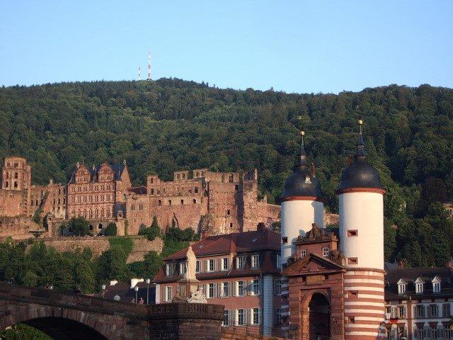 留学先のハイデルベルクの古城。