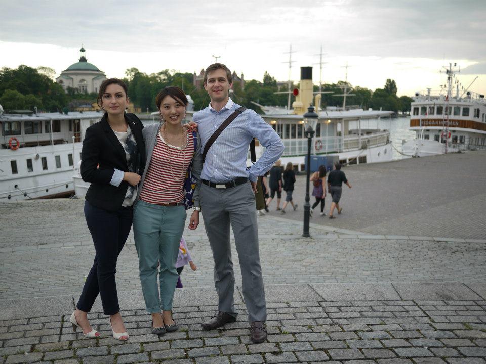 スウェーデンで友人と