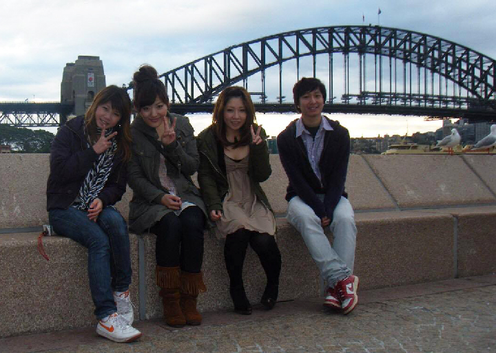シドニーで友人たちと