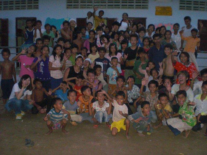 カンボジアで