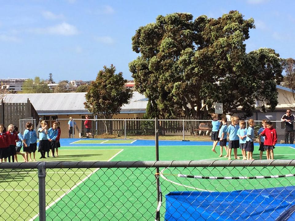 ニュージーランドの学校の体育の授業の様子