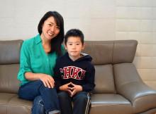 ニュージーランドの公立学校に親子留学されていた、今西由加さん、じゅんやくん