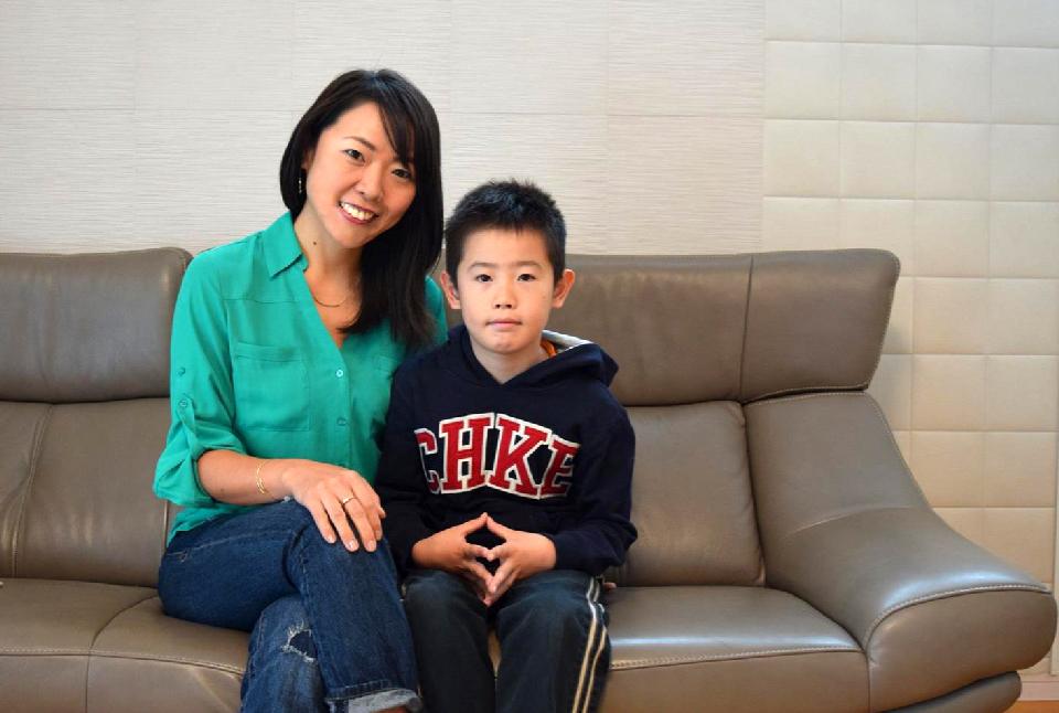 ニュージーランドの公立学校に親子留学されていた、今西由加さん、潤弥(じゅんや)くん