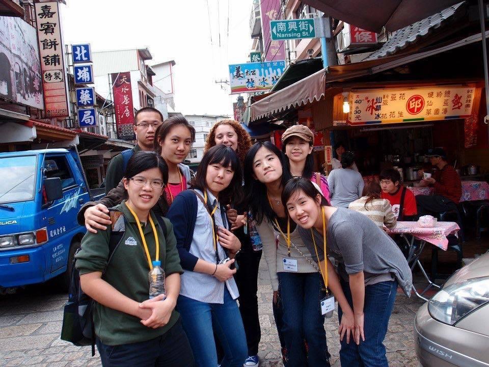 台湾に交換留学をされていた時の写真。
