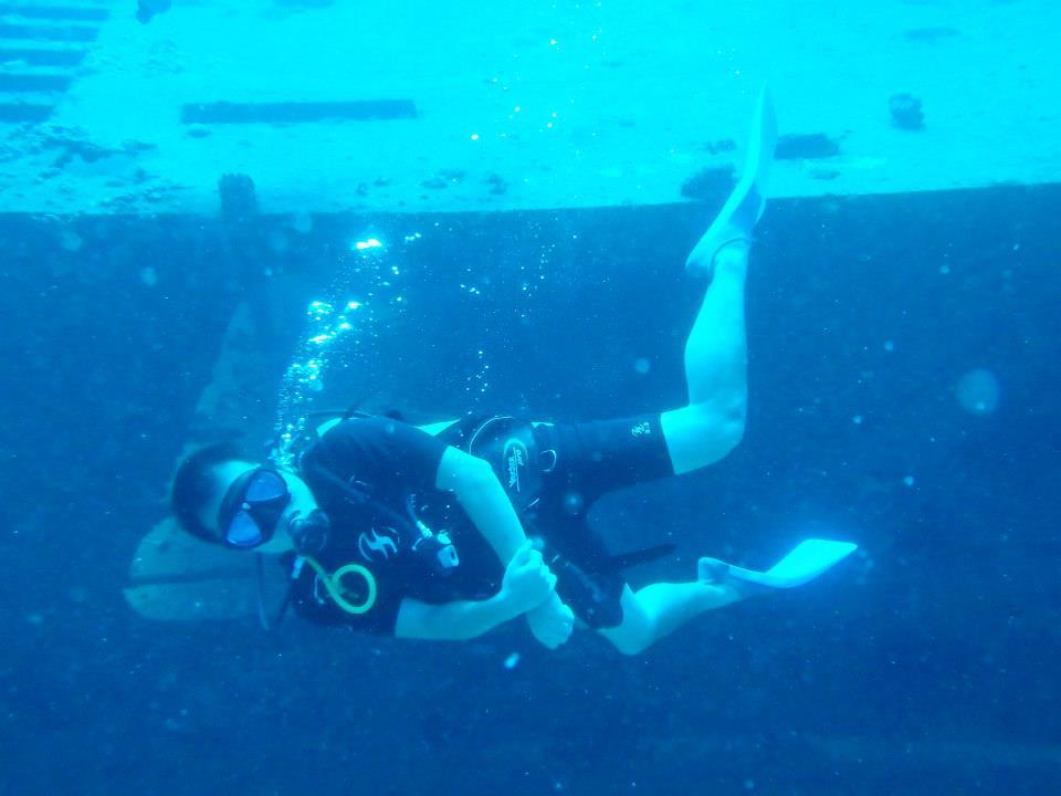留学中にカンクンにてダイビング