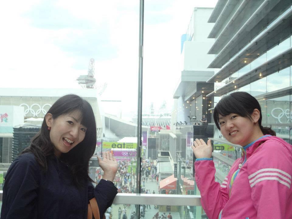 オリンピックの会場を観に行った時。