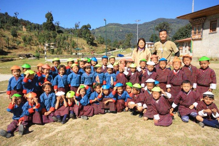 ブータンでの教え子たちと