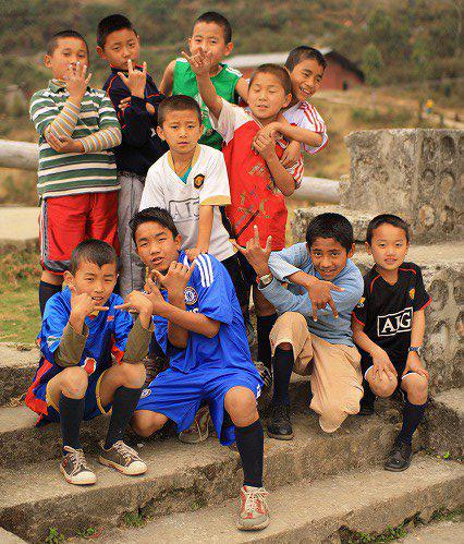 ブータンの生徒たち