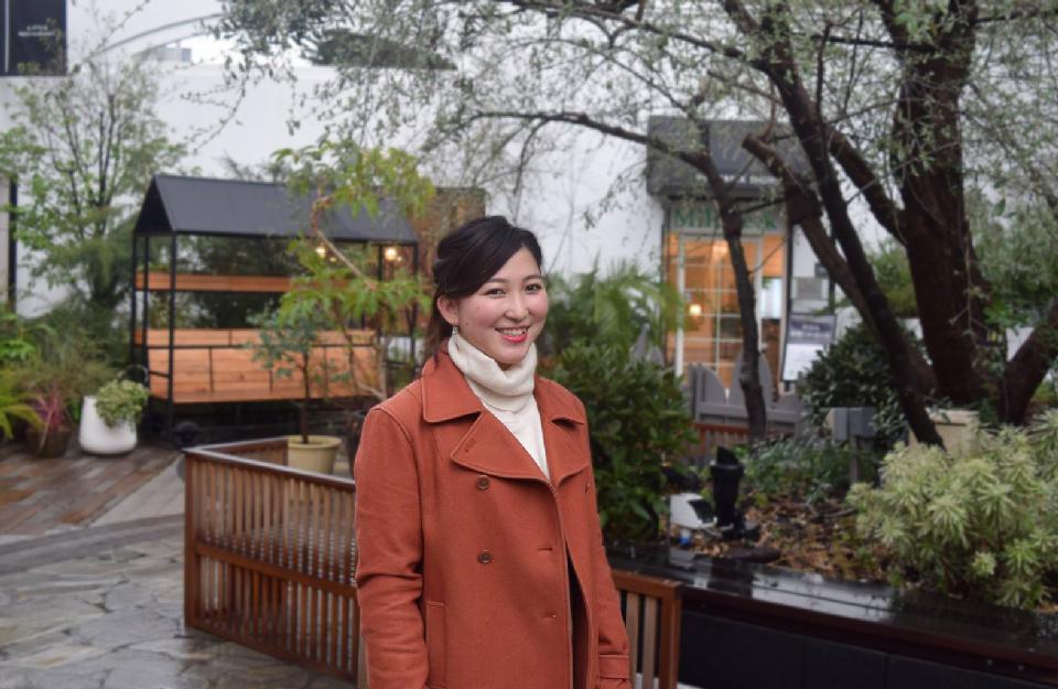昭和女子大学のプログラムで1年間ボストンに留学していた宮越真央さん。