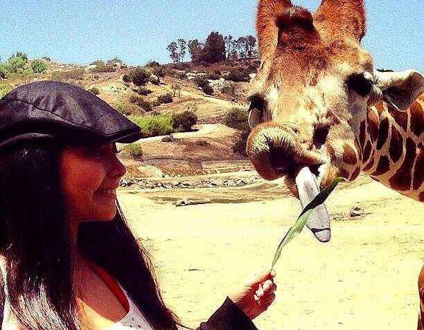 ホストファミリーと一緒にLAの動物園に行った時の1枚。
