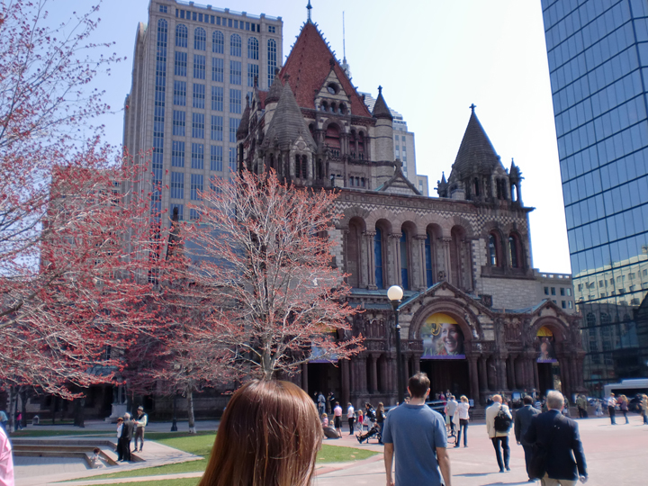 ボストンの有名観光地「トリニティ教会」