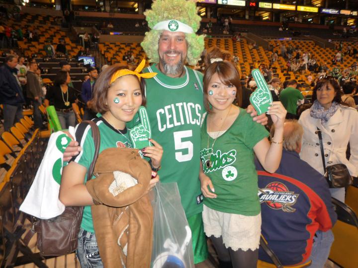 ボストンのプロバスケットボールチーム「セルティックス」の試合を観に行った時。