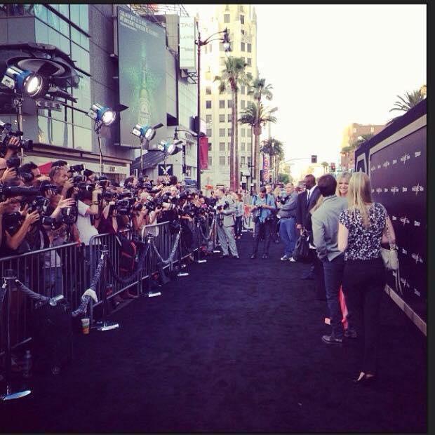 ハリウッドでのレッドカーペットを見に行った時