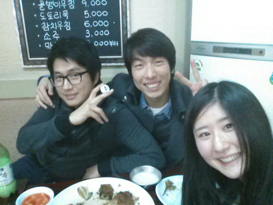 韓国人の地元の友達たち。