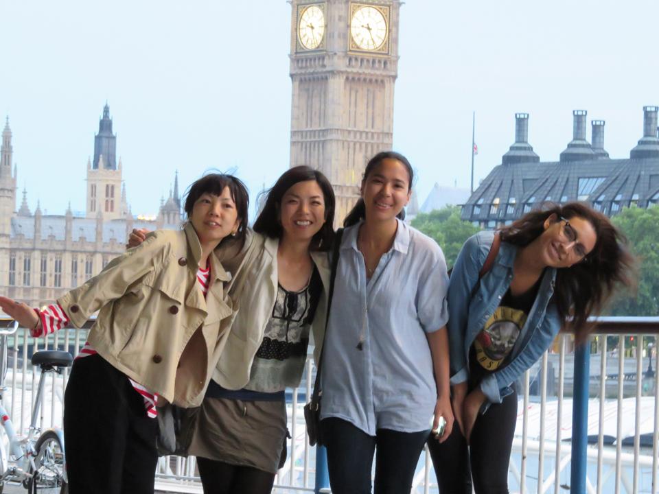 結婚後、旦那さんと夫婦で半年間、ロンドンに語学留学されていた富山順子さん。