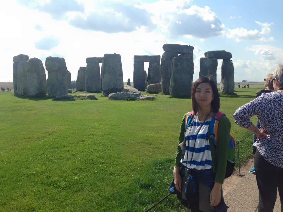 留学中に国内旅行で行ったストーンヘンジ