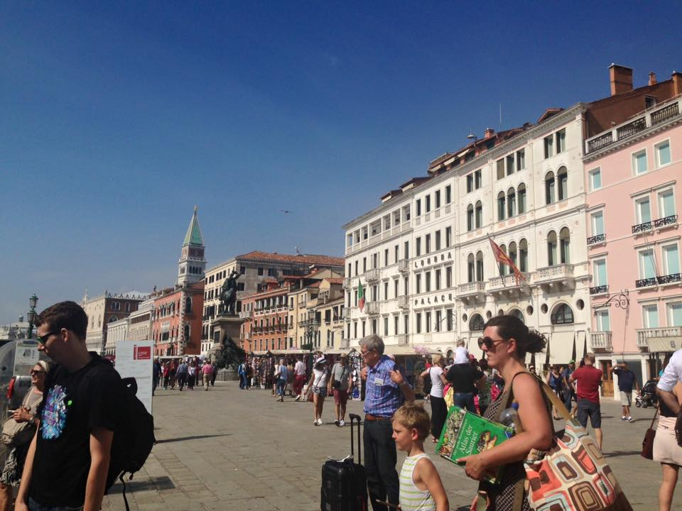イタリア旅行中の写真。