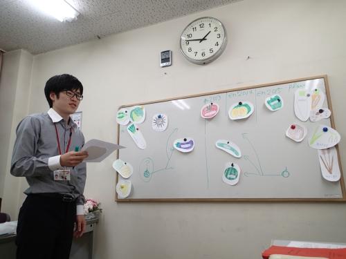 訓練所の授業でスペイン語でワークショップを開催