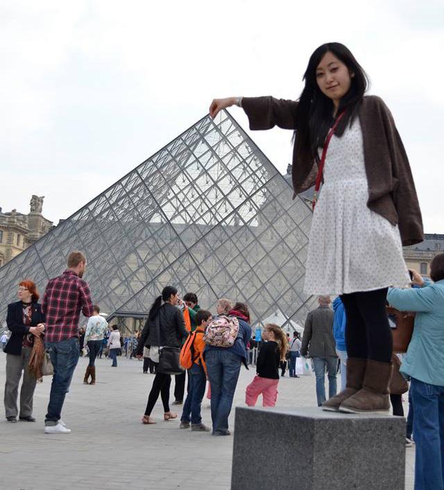 パリ旅行中