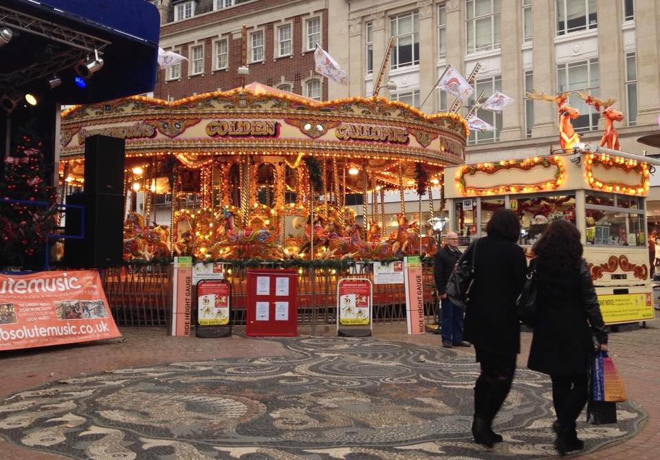 ボーンマスのクリスマスマーケットの様子