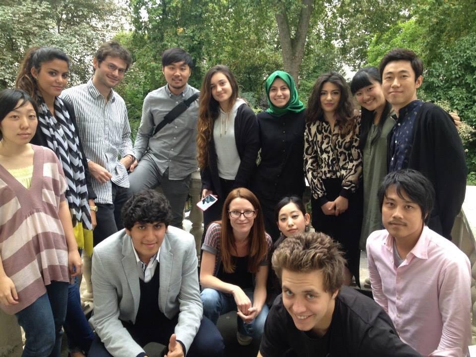 ロンドン時代のクラスメイトたち。