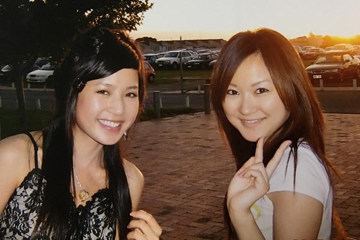 仲良くなった台湾人の友達とバスケの試合観戦に行った時。