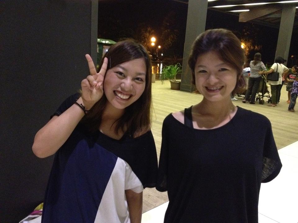 クルクメール代表の篠田ちひろさんと。