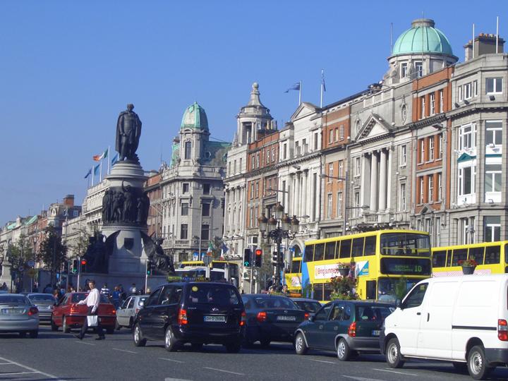 ダブリンの街並。