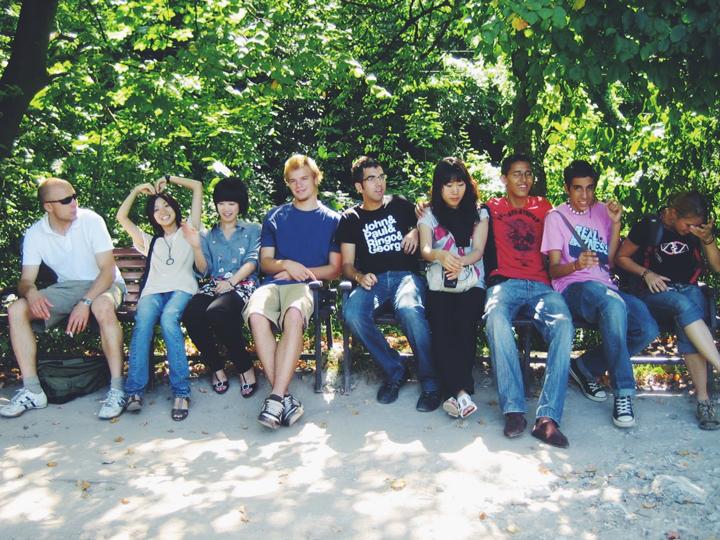ボランティアに参加した時に外国人たちと。