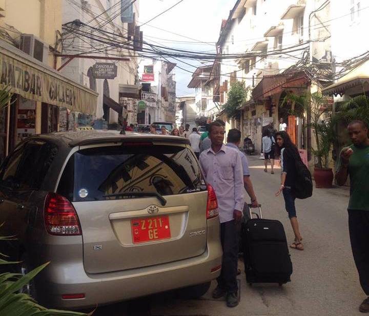 タンザニアのザンジバル島の街の風景