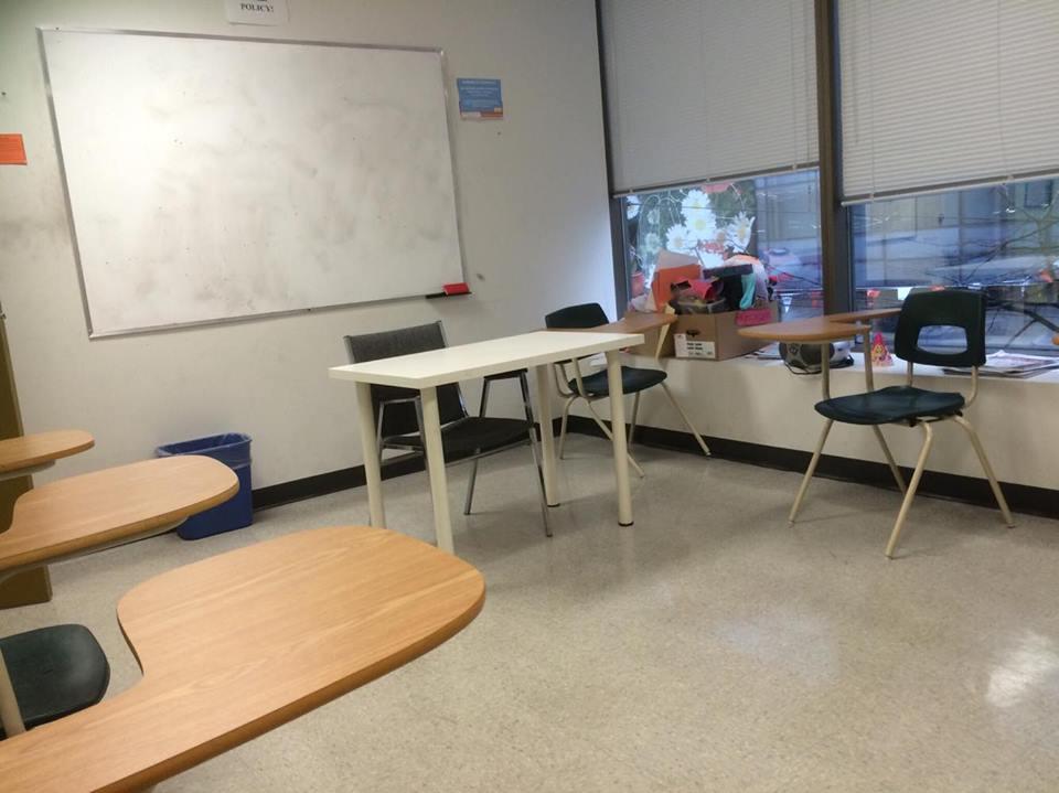 バンクーバーで通っていた学校の教室。